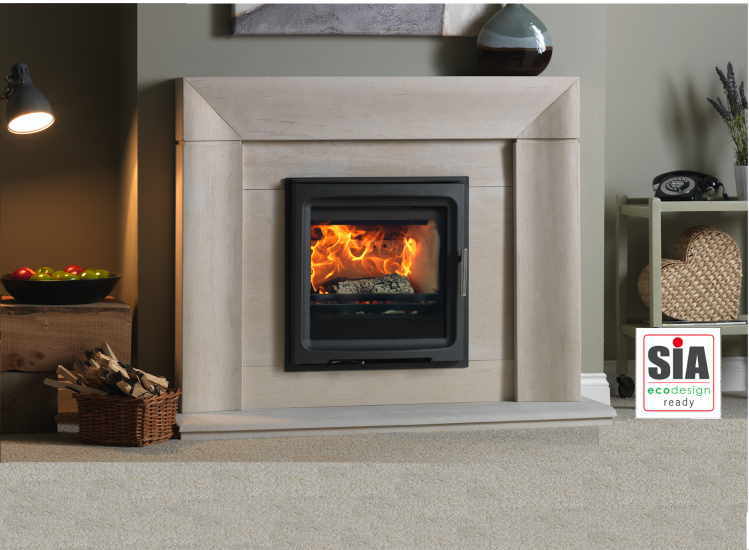 Purevision 5kW Wide Inset Stove in Wave Ecodesign Ready
