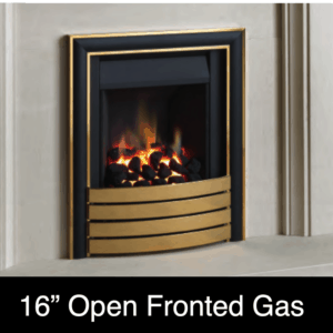 16 inch open fronted gas fire